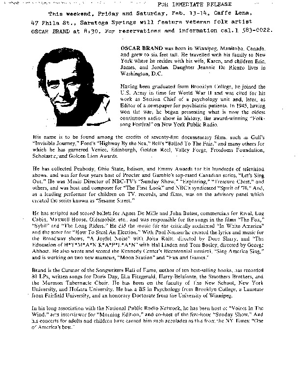 http://history.caffelena.org/transfer/Performer_File_Scans/brand_oscar/Brand__Oscar___press_release___Caffe_Lena___2.14.yearunknown.pdf
