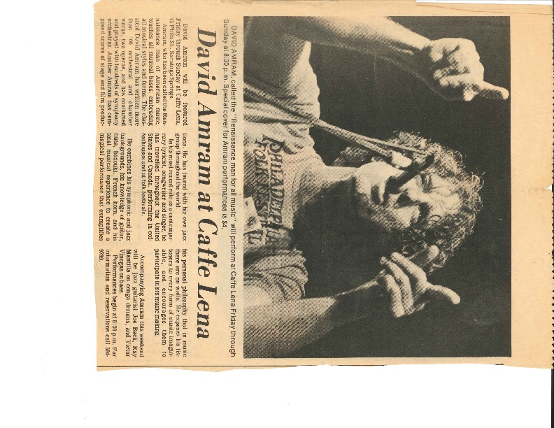 http://history.caffelena.org/transfer/Performer_File_Scans/amram_david/Amram__David___newspaper__David_Amram_at_Caffe_Lena__date_unknown.pdf