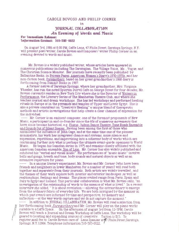 http://history.caffelena.org/transfer/Performer_File_Scans/bovoso_carole/Bovoso__Carole___press_release___with_Philip_Corner___Caffe_Lena.pdf