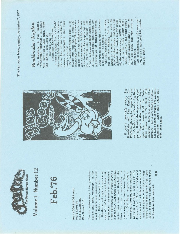 http://history.caffelena.org/transfer/Performer_File_Scans/book_binder_roy/Bookbinder__Roy___articles___Aquarian_and_Ann_Arbor_News___12.1975.pdf