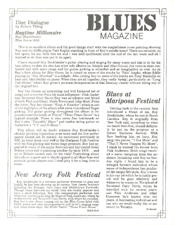 http://history.caffelena.org/transfer/Performer_File_Scans/book_binder_roy/Bookbinder__Roy___article___Blues_Magazine___reviews.pdf