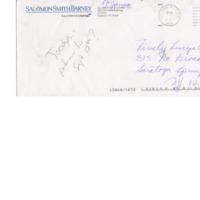 [Ephemera] Envelope and business card