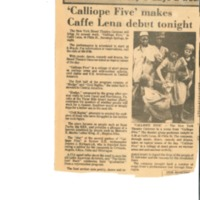 [Ephemera] Calliope Five