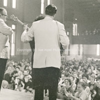 [Photo] The Weavers  Skidmore College  Skidmore  Ronnie Gilbert  Lee Hays  Fred Hellerman  Eric Darling