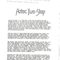 [Ephemera] Aztec Two-Step