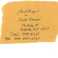 [Ephemera] Berger and Reagan