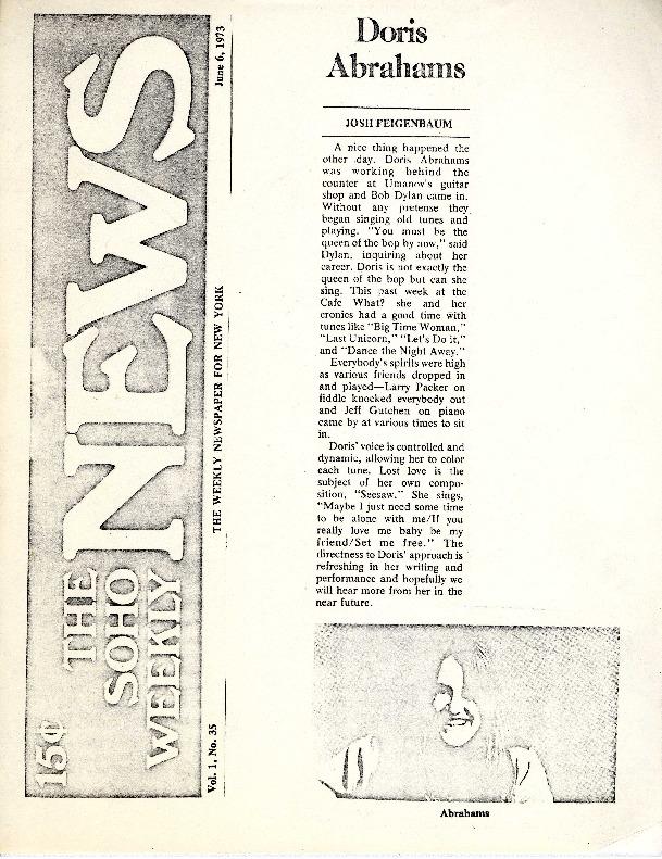 http://history.caffelena.org/transfer/Performer_File_Scans/abrahams_doris/Abrahams__Doris___The_SOHO_Weekly_News___June_6_19731.pdf