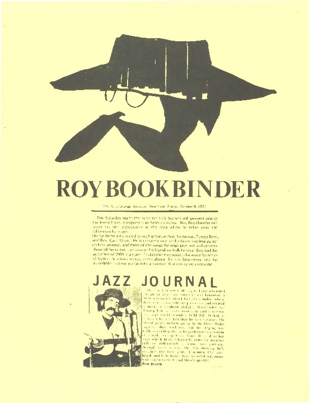 http://history.caffelena.org/transfer/Performer_File_Scans/book_binder_roy/Bookbinder__Roy___article___the_Daily_Orange___10.8.1971.pdf