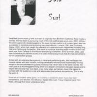 [Ephemera] Jaia Suri-Biography