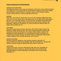 [Ephemera] Gregory Douglass-Press Kit-Performance Experience