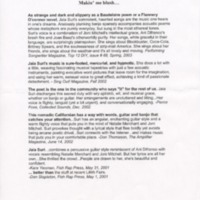[Ephemera] Jaia Suri-Press Quotes