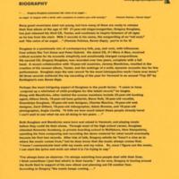 [Ephemera] Gregory Douglass-Press Kit-Biography