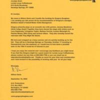 [Ephemera] Gregory Douglass-Press Kit-Letter