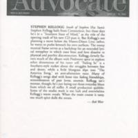 [Ephemera] Stephen Kellogg Press-Kit- Article