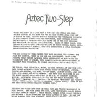 [Ephemera] Aztec Two-Step
