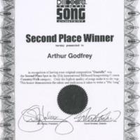 [Ephemera] Arthur Godfrey Packet-Certificate