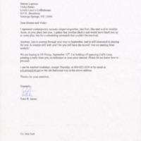 [Ephemera] Letter